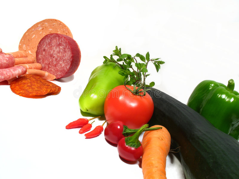 Nourriture saine ou malsaine image stock