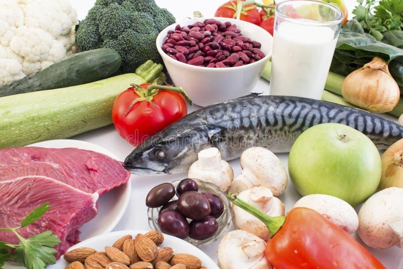 Nourriture saine recommandée pour le diabète et l'hypertension images stock