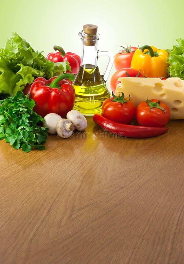 Nourriture saine sur la table photos stock