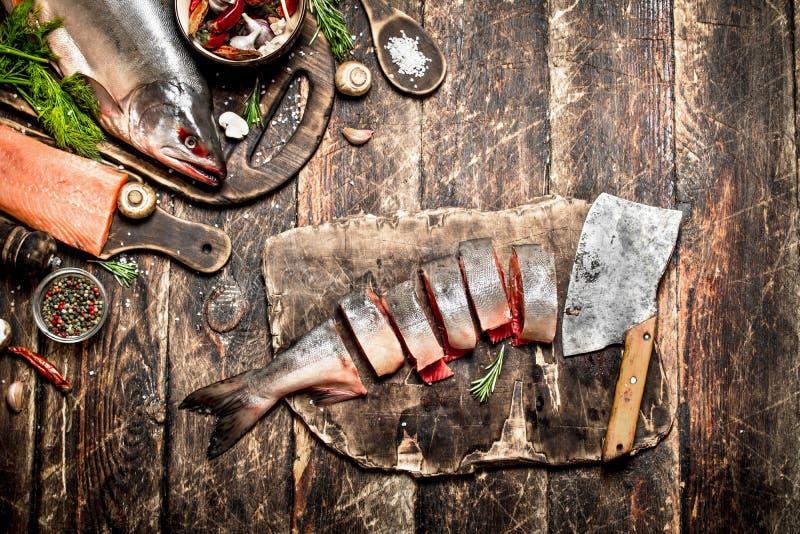 Nourriture saumonée photos libres de droits