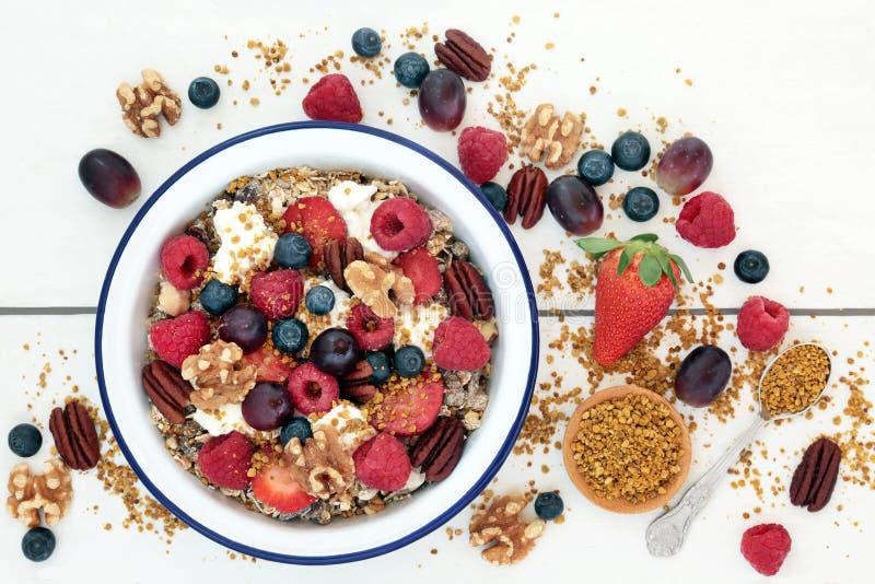 Nourriture superbe de petit déjeuner sain images stock