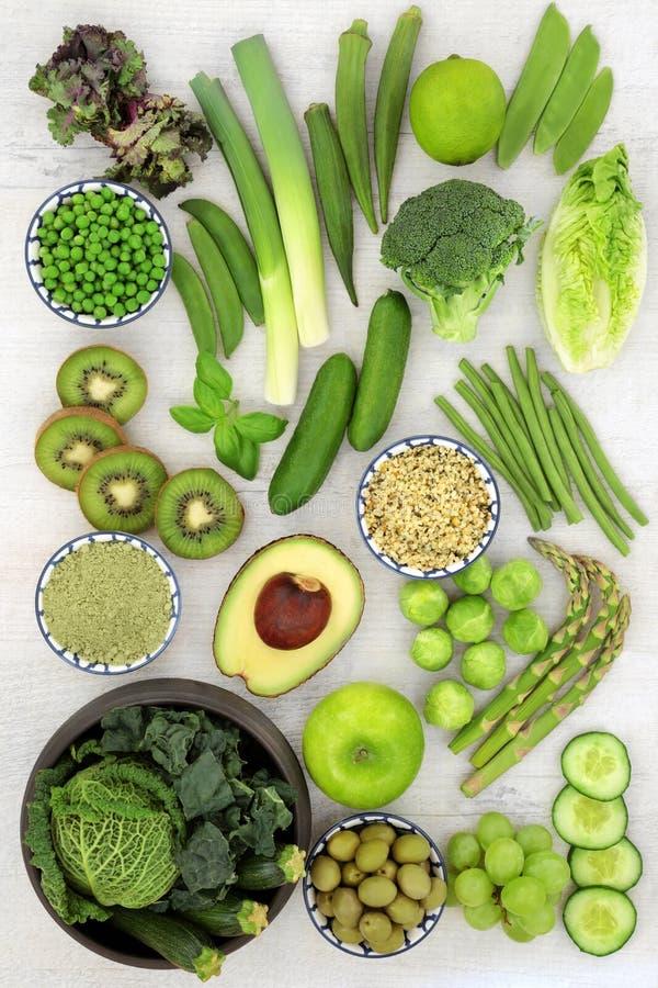 Nourriture superbe des fruits et légumes verts images libres de droits