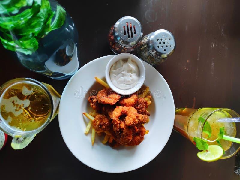 Nourriture sur la table photo stock