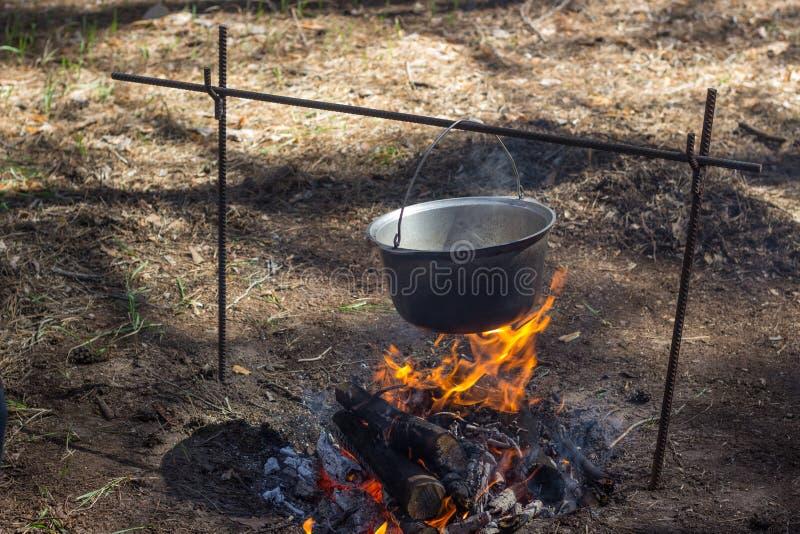 Nourriture sur le feu nature photos libres de droits