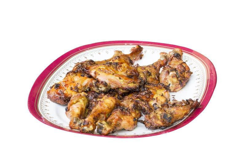 Nourriture thaïlandaise et menu traditionnel entier rôti par poulet images libres de droits