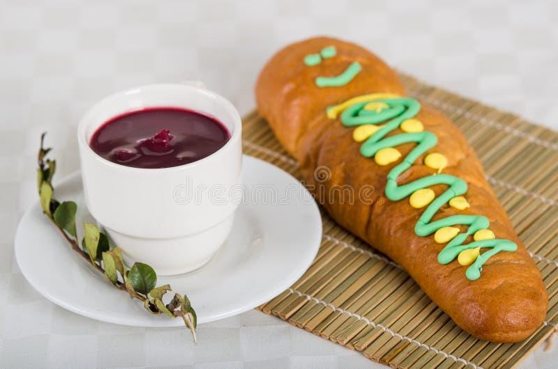 Nourriture traditionnelle d'ecuadorian, guaguas de pan photo libre de droits
