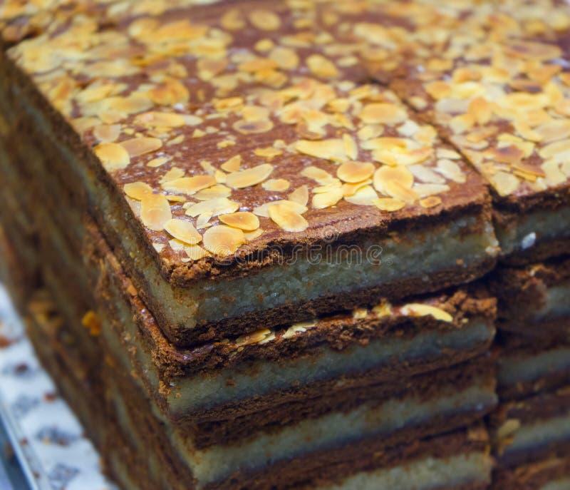 Nourriture traditionnelle des Pays-Bas de biscuit doux de Néerlandais de Gevuld Speculaas photos stock