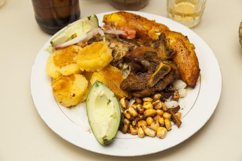 Nourriture typique de l'Equateur image libre de droits