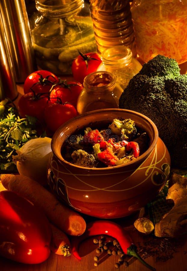 Nourriture végétarienne délicieuse photo stock
