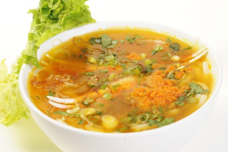 Nourriture vietnamienne d'isolement sur le blanc photos libres de droits