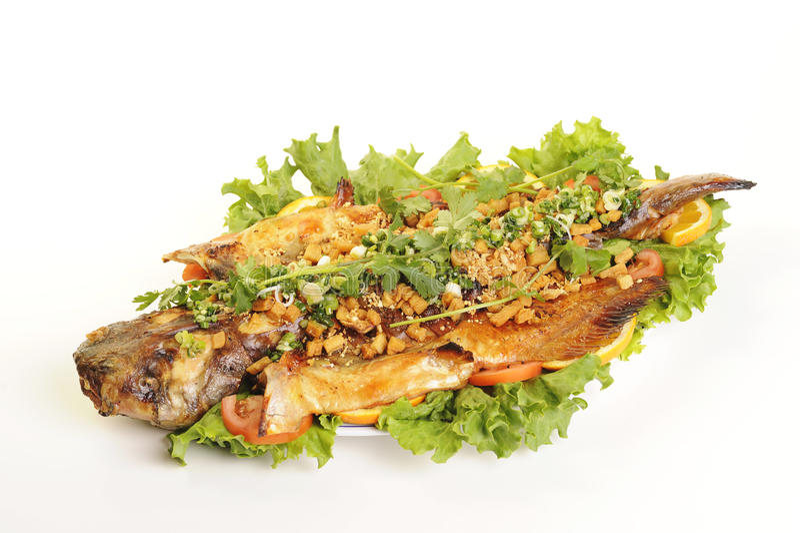 Nourriture vietnamienne d'isolement sur le blanc photo libre de droits