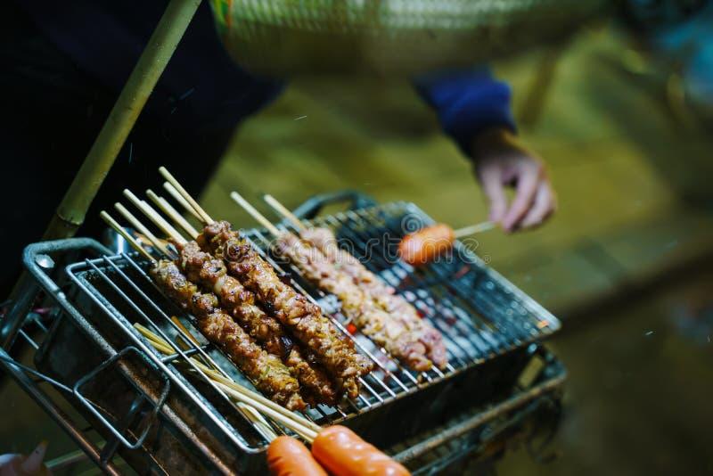 Nourriture vietnamienne de rue de barbecue photo libre de droits
