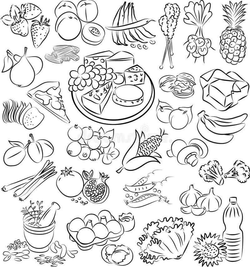 Nourritures illustration de vecteur