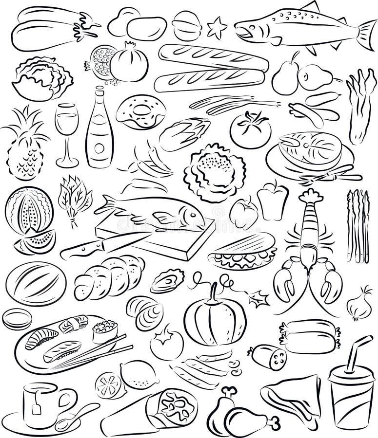 Nourritures illustration stock