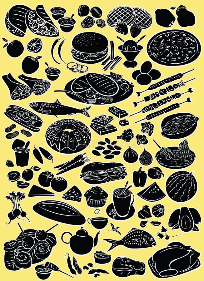 nourritures illustration libre de droits