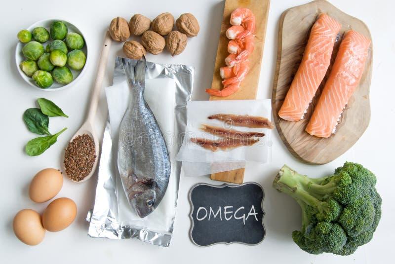 Nourritures d'acide gras d'Omega photos stock