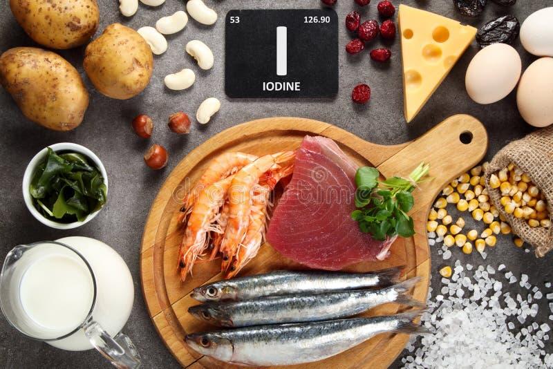 nourritures riches en iode photo libre de droits