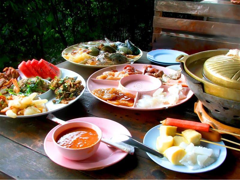 Nourritures thaïlandaises la nourriture épicée de la Thaïlande photographie stock libre de droits