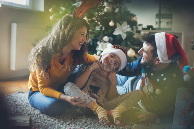 Nous aimons des vacances de Noël photographie stock libre de droits