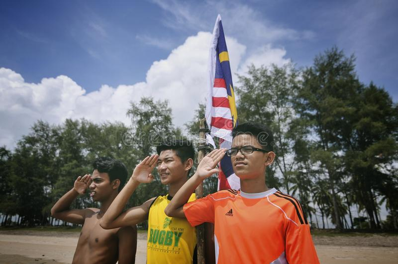 Nous aimons la Malaisie photo stock