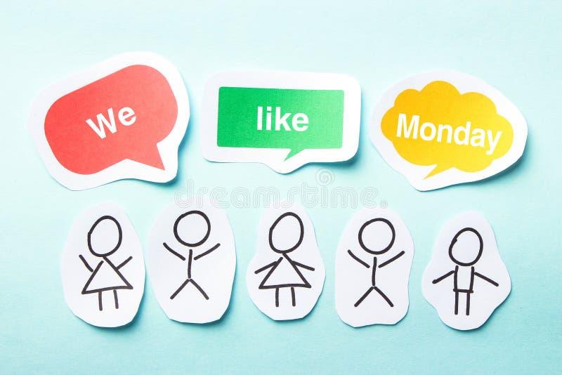 Nous aimons lundi photo stock