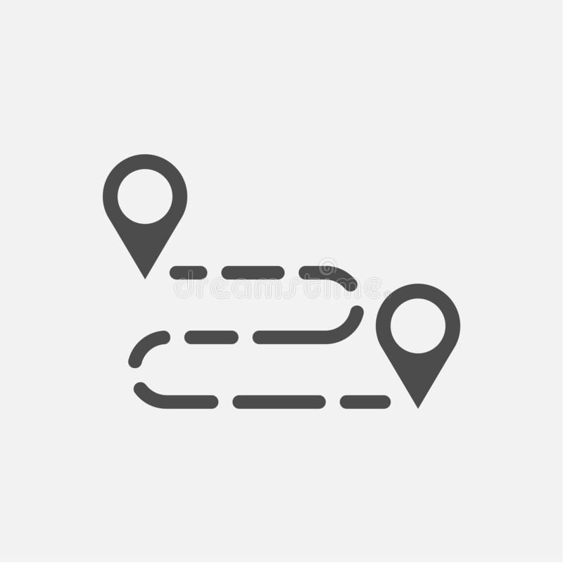 Nous avons déplacé l'icône Signe mobile de bureau D'isolement sur le fond blanc Illustration de vecteur illustration libre de droits