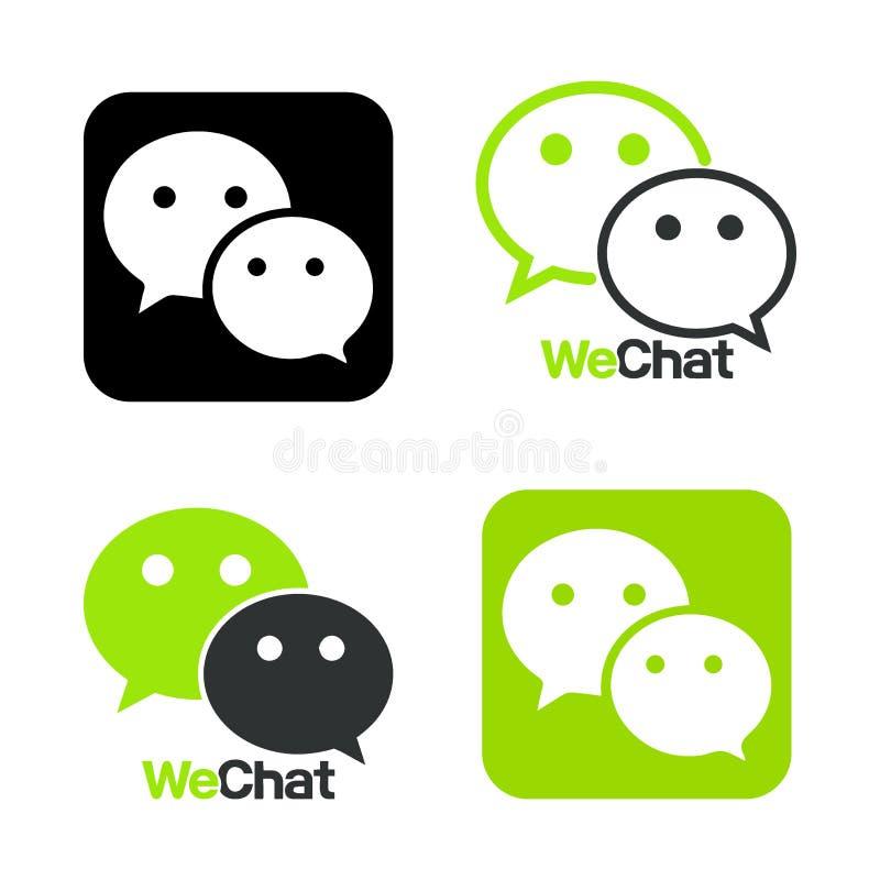 Nous causons le symbole Couleur de commentaires d'icône de Web Illustration de vecteur d'icône de messager illustration de vecteur