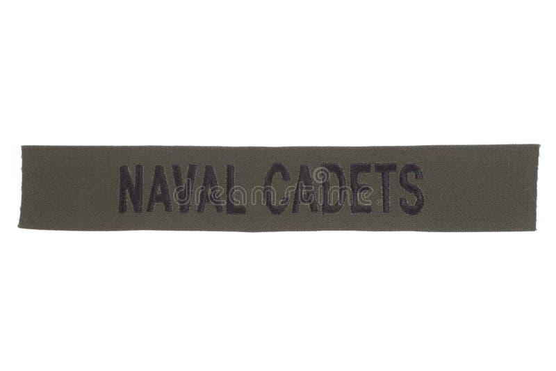 Nous insigne naval d'uniforme de cadets image libre de droits