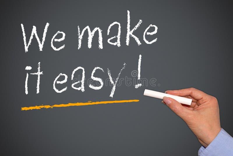 Nous le rendons facile ! image libre de droits