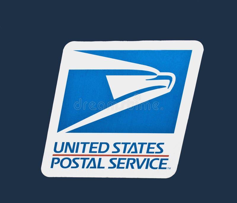 Nous logo de service postal photographie stock