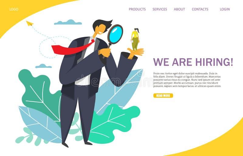 Nous louons le calibre de conception de page d'atterrissage de site Web de vecteur illustration de vecteur