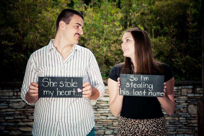Nous nous marions  image stock