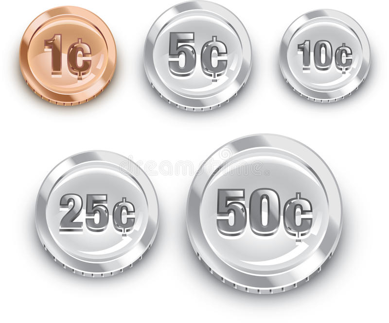 Nous pièces de monnaie illustration libre de droits