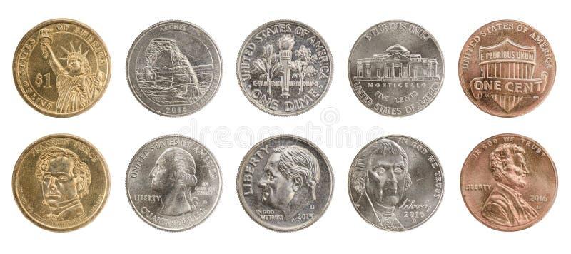 Nous pièces de monnaie photo libre de droits