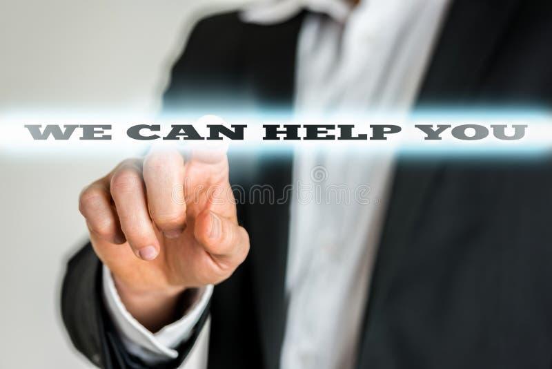 Nous pouvons vous aider image libre de droits
