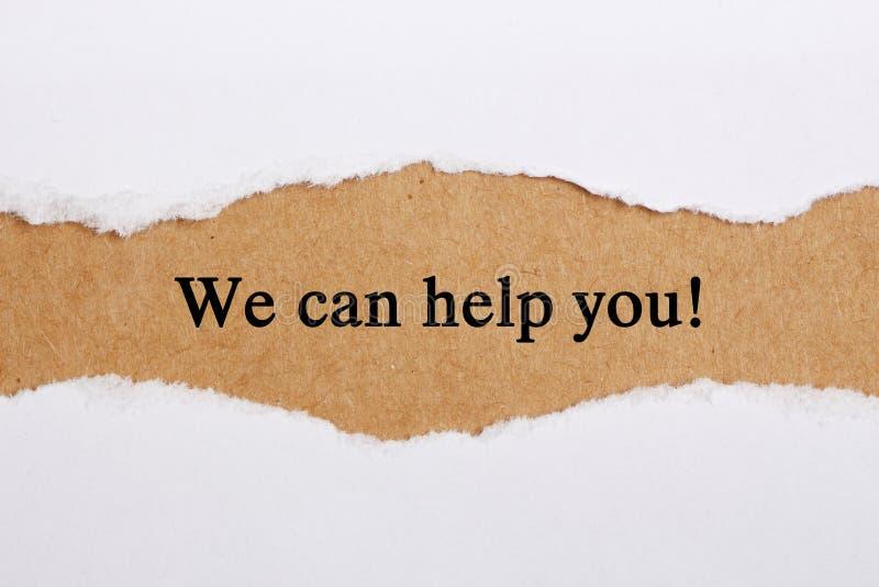 Nous pouvons vous aider images stock