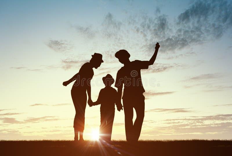Nous sommes famille heureuse photo libre de droits