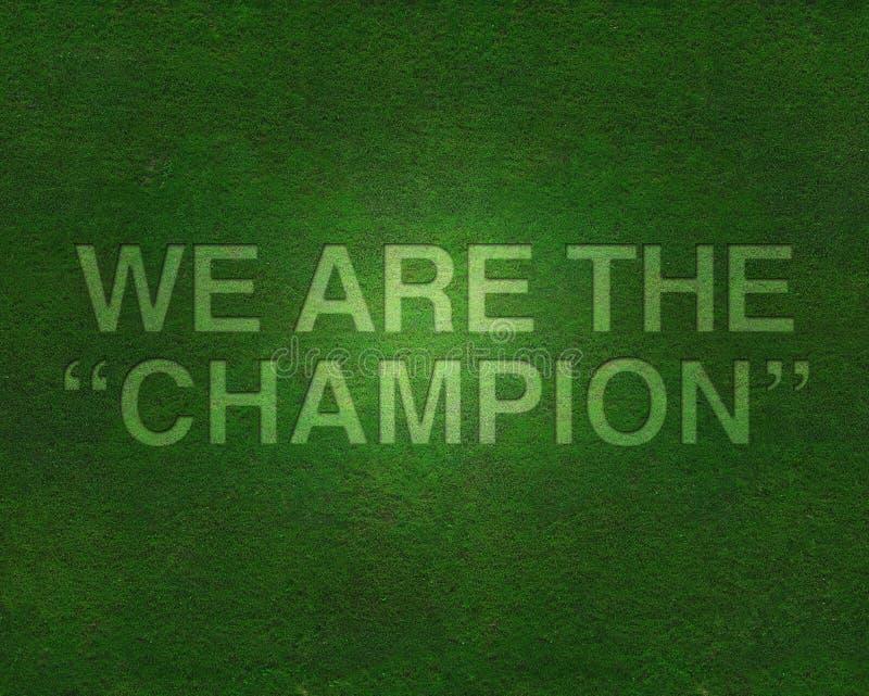 Nous sommes le champion sur l'herbe image stock