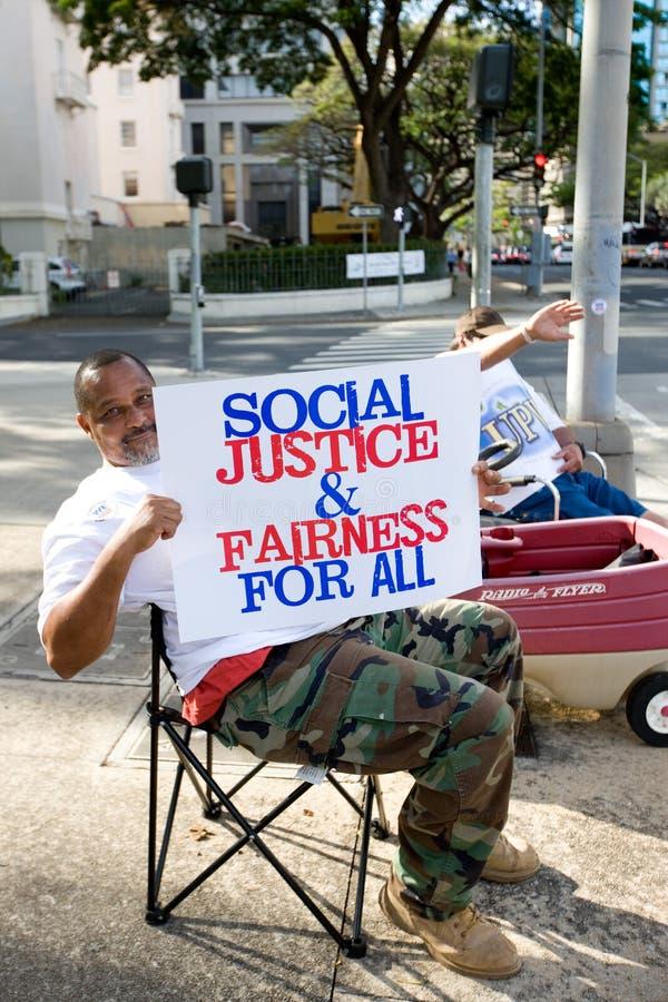 Nous sommes un rassemblement -10 de solidarité d'Hawaï photographie stock libre de droits