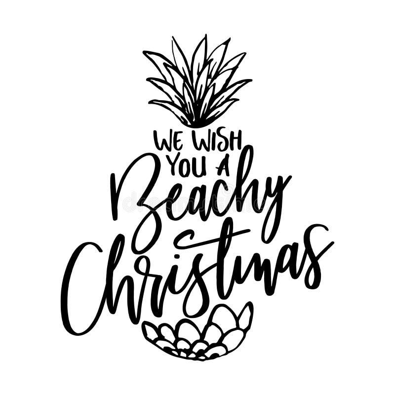 Nous te souhaitons Noël pour la plage illustration de vecteur