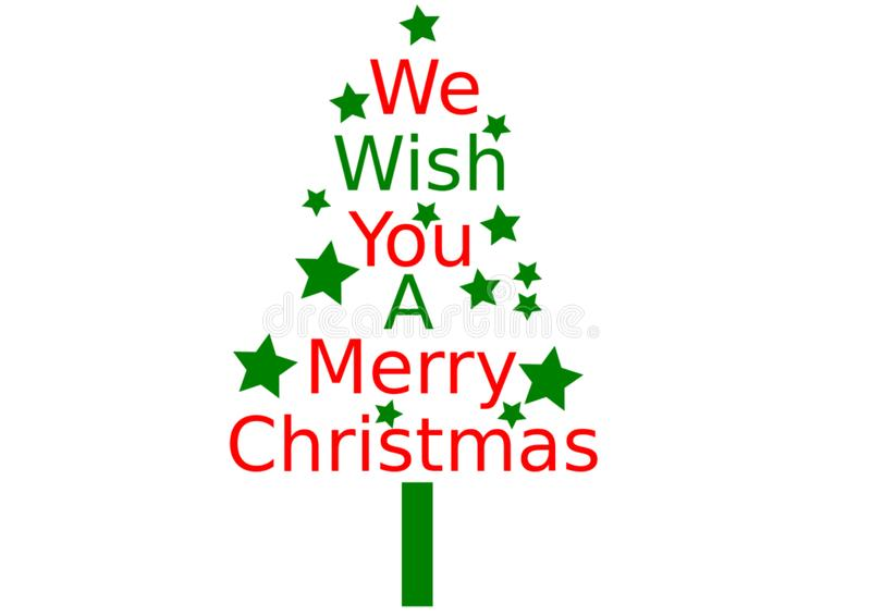 Nous te souhaitons un Joyeux Noël illustration stock