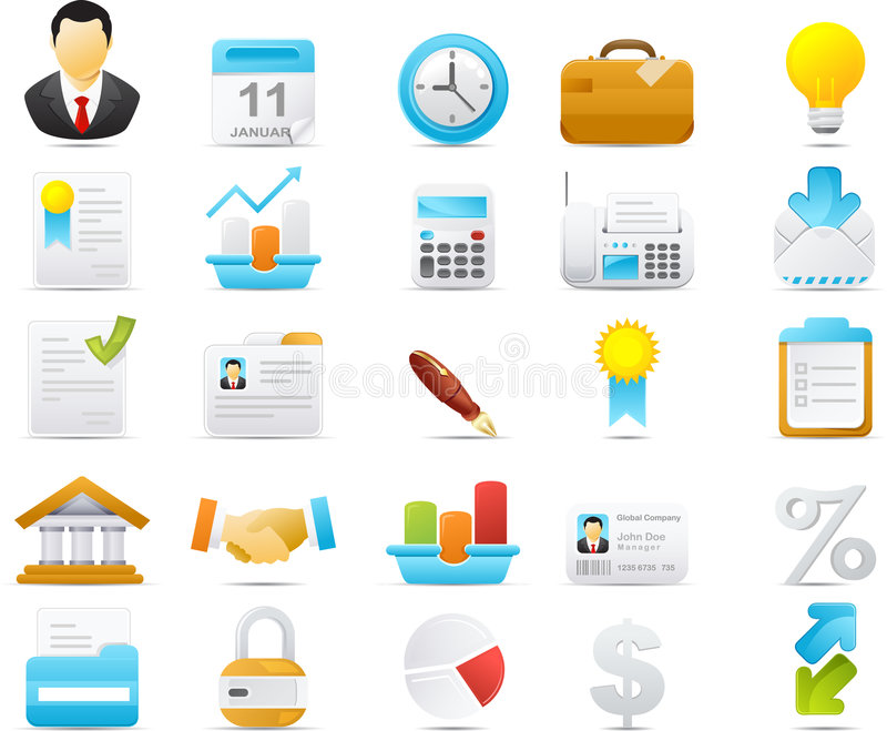 Nouve icon set: Business and Finance vector illustration