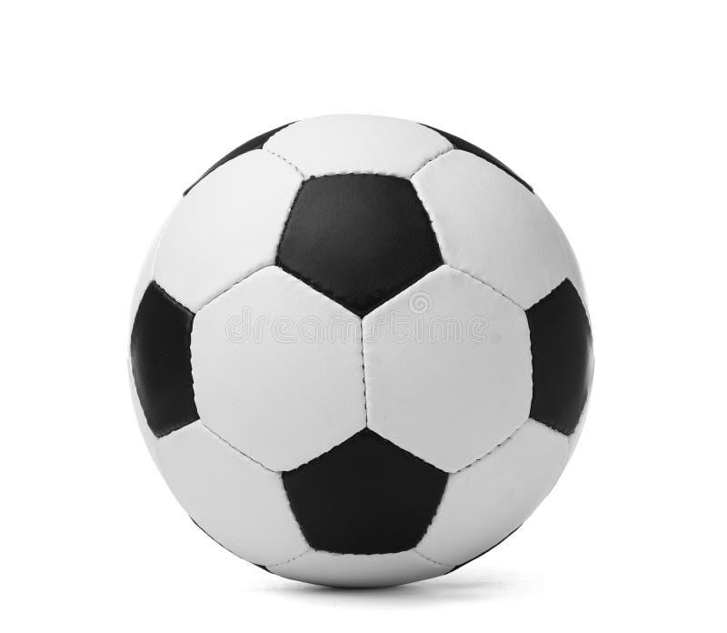 Nouveau ballon de football sur le fond blanc photos stock