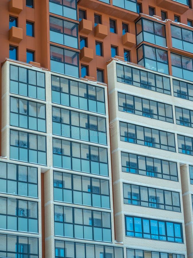 Nouveau bas complexe d'appartements moderne de hausse Moscou, Russie photos stock