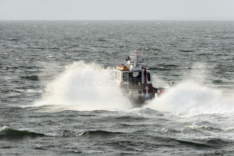Nouveau bateau de Bedford Fire Rescue images stock