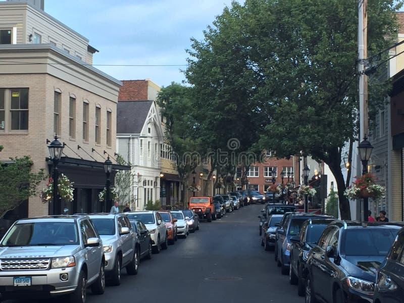 Nouveau Canaan dans le Connecticut image libre de droits