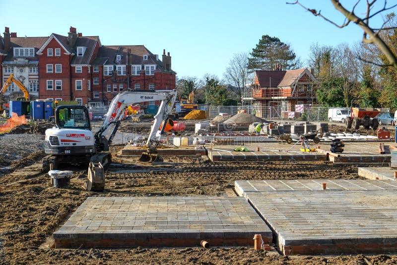 Nouveau chantier de construction de logements et de construction photographie stock