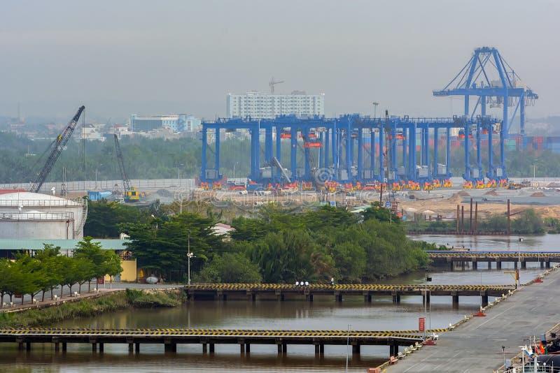 Nouveau chantier de construction de port image libre de droits