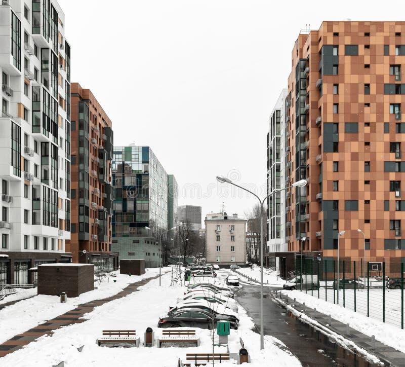 Nouveau complexe résidentiel à Moscou image libre de droits