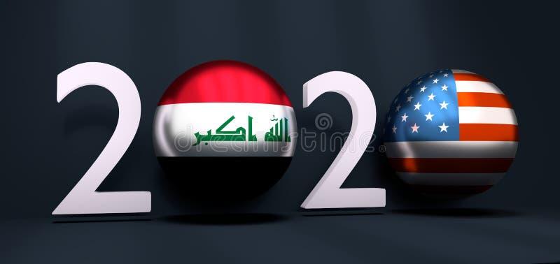 Nouveau concept d'année 2020 illustration libre de droits